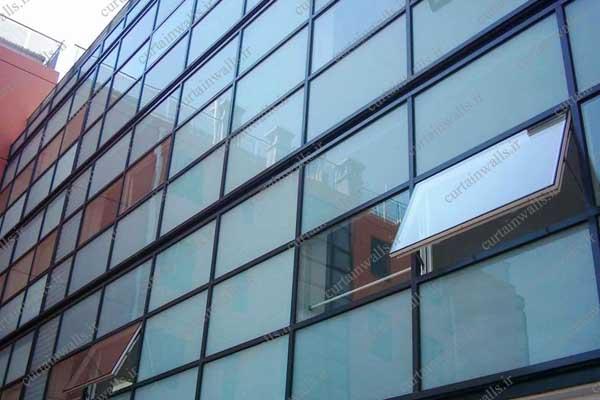 هزینه اجرای نمای شیشه ای کرتین وال